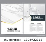 abstract vector modern flyers... | Shutterstock .eps vector #1305922318