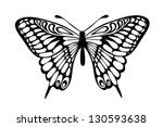 Stock vector beautiful black and white butterfly isolated on white many similarities to the author s profile 130593638