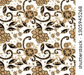 seamless pattern with small... | Shutterstock .eps vector #1305945268