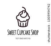 sweet cupcake shop lettering... | Shutterstock .eps vector #1305954742