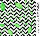 falling leaves seamless vector...   Shutterstock .eps vector #1305954745