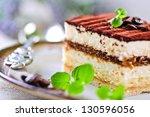 tiramisu cake | Shutterstock . vector #130596056