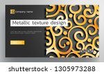 black and gold foil background...