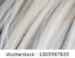 close up of artificial blond...   Shutterstock . vector #1305987835