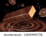 milk chocolate flavor with... | Shutterstock .eps vector #1305990778