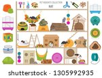 pet rodents home accessories... | Shutterstock .eps vector #1305992935