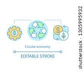 circular economy concept icon.... | Shutterstock .eps vector #1305995932