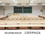 tables and chairs in a college...   Shutterstock . vector #130599626