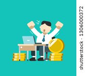 vector cartoon business concept ...   Shutterstock .eps vector #1306000372