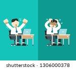 vector cartoon a businessman...   Shutterstock .eps vector #1306000378