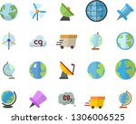 color flat icon set earth flat... | Shutterstock .eps vector #1306006525