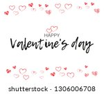 greeting card with hand written ... | Shutterstock .eps vector #1306006708