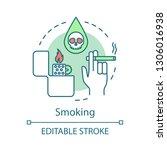 smoking concept icon. bad habit ...   Shutterstock .eps vector #1306016938