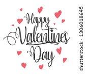 happy valentines day ... | Shutterstock . vector #1306018645