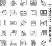 thin line icon set   ticket... | Shutterstock .eps vector #1306022248