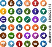 color back flat icon set  ... | Shutterstock .eps vector #1306023598