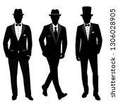wedding men s suit and tuxedo....   Shutterstock .eps vector #1306028905