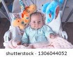 little baby in the swing.... | Shutterstock . vector #1306044052