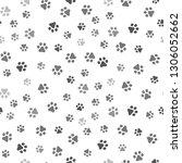 Stock vector dog paw seamless pattern vector footprint kitten puppy tile background repeat wallpaper cartoon 1306052662