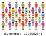 mass tourism   large group of... | Shutterstock .eps vector #1306052845
