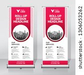 roll up banner design template  ... | Shutterstock .eps vector #1306053262