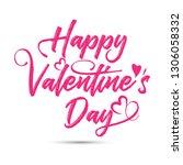 happy valentine's day text  ... | Shutterstock .eps vector #1306058332