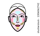 women face strobing scheme... | Shutterstock .eps vector #1306062742