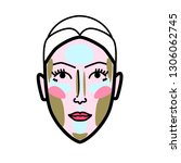 women face strobing scheme... | Shutterstock .eps vector #1306062745