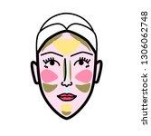 women face strobing scheme... | Shutterstock .eps vector #1306062748
