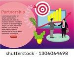 partnership bussiness...   Shutterstock .eps vector #1306064698