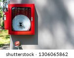 fire equipment which consists... | Shutterstock . vector #1306065862