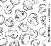 seamless pattern with... | Shutterstock .eps vector #1306068142