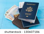 passports and wallet with...