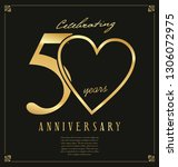 black and gold anniversary... | Shutterstock .eps vector #1306072975