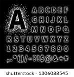 uppercase regular display font... | Shutterstock .eps vector #1306088545