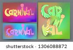 set of very bright colored... | Shutterstock .eps vector #1306088872