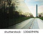 Vietnam War Memorial With...