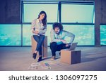 young team of business people... | Shutterstock . vector #1306097275