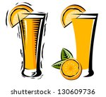 orange citrus juice glass in... | Shutterstock .eps vector #130609736