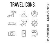 travel icons set vector  ... | Shutterstock .eps vector #1306097848