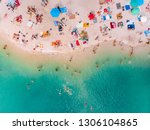 aerial view of sunny sandy...   Shutterstock . vector #1306104865