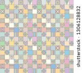 seamless vector pattern.... | Shutterstock .eps vector #1306128832