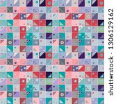 seamless vector pattern.... | Shutterstock .eps vector #1306129162