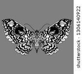 beautiful hand drawn vector...   Shutterstock .eps vector #1306140922