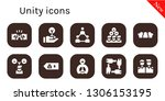 unity icon set. 10 filled unity ... | Shutterstock .eps vector #1306153195