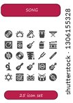 song icon set. 25 filled song... | Shutterstock .eps vector #1306155328