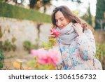 young beautiful woman enjoying... | Shutterstock . vector #1306156732