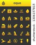 aqua icon set. 26 filled aqua... | Shutterstock .eps vector #1306157815
