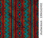 seamless ethnic ornament. aztec ... | Shutterstock .eps vector #1306162432