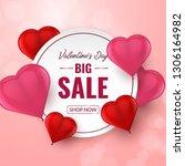 valentines day big sale... | Shutterstock .eps vector #1306164982